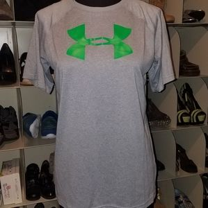 Under Armour gray green drifit top tshirt xl